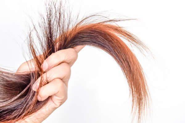 corte químico fios cabelos quebrados