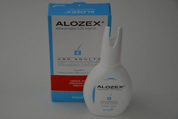 Alozex alfaestradiol cabelo